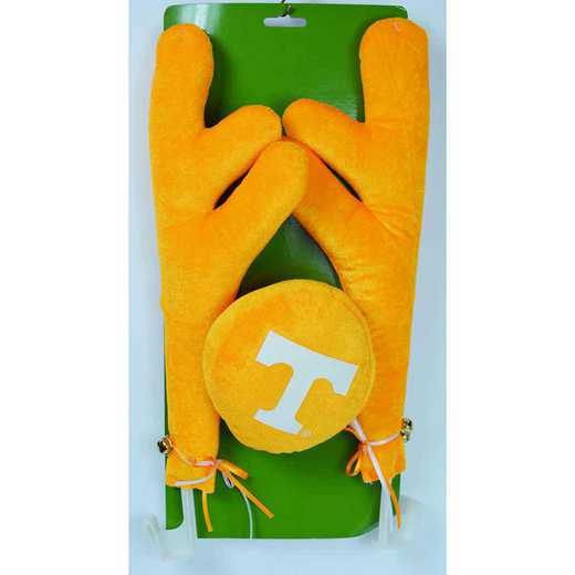CRS026: TENNESSEE 16.5IN FABRIC/PLASTIC  CAR ANTLER SET