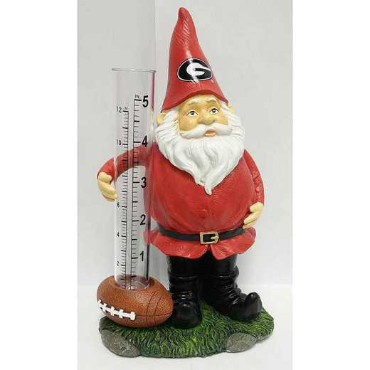 GRG009: GEORGIA BULLDOGS 8IN RESIN GNOME RAIN GAUGE