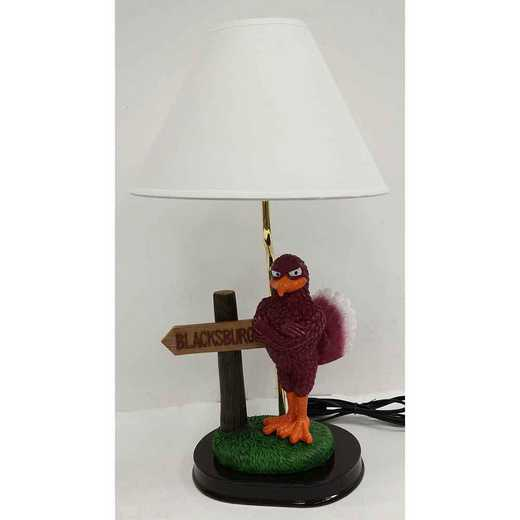 MSL062: VIRGINIA TECHHOKIES 20IN RESIN MASCOT  WITHSIGN LAMP