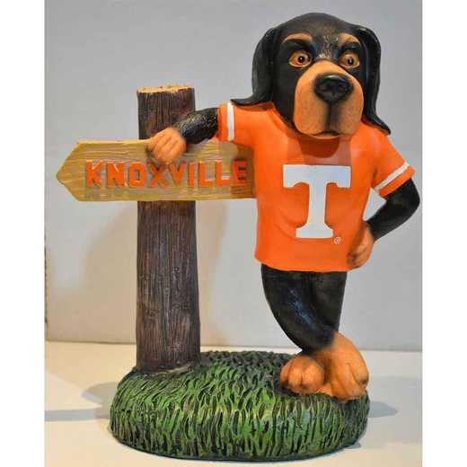 MWS026: TENNESSEE MASCOT 10IN RESIN FIGURINE  W/ SIGN