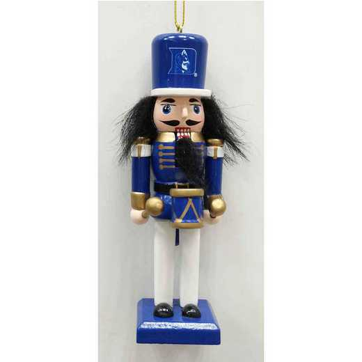NCO006: DUKE BLUE DEVILS 5.5IN WOOD NUTCRACKER ORNAMENT