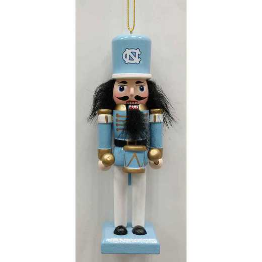 NCO019: NORTHCAROLINA TAR HEEL 5.5IN WOOD NUTCRACKER ORNAMENT