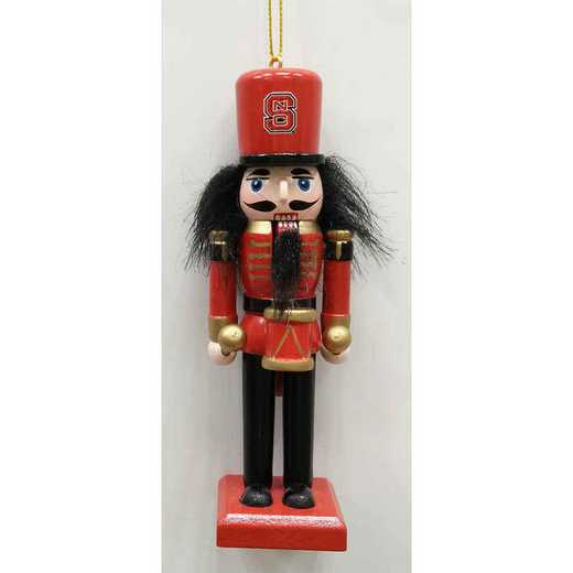 NCO020: NC STATE WOLFPACK 5.5IN WOOD NUTCRACKER ORNAMENT