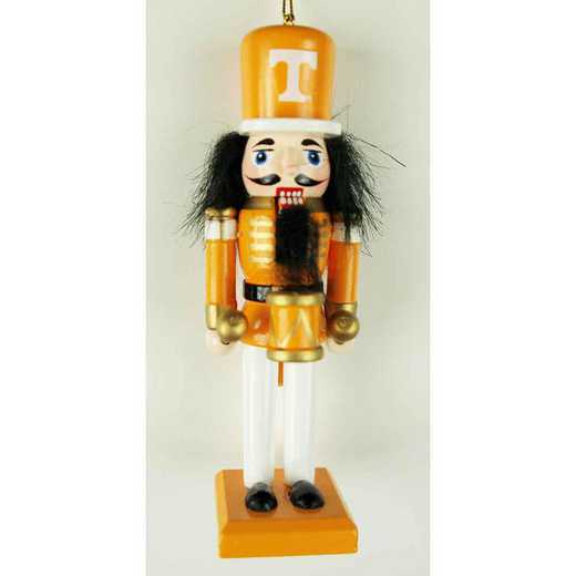NCO026: TENNESSEE VOLUNTEERS 5.5IN WOOD NUTCRACKER ORNAMENT