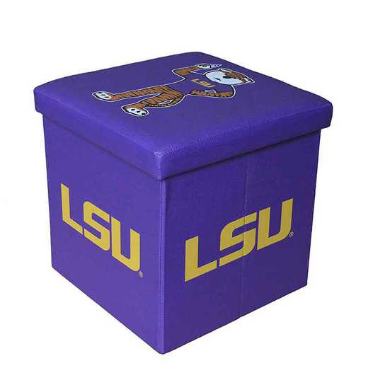 OTS013: LSU SMALL STORAGE OTTOMAN