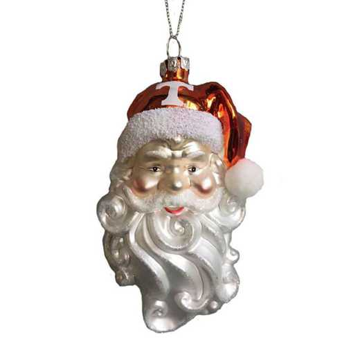 SGO026: TENNESSEE 6IN SANTA GLASS ORNAMENT