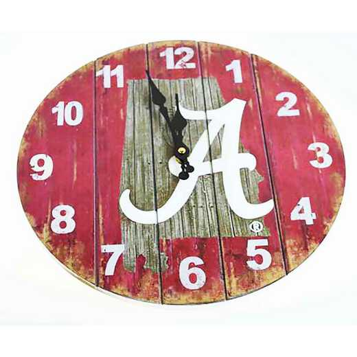SMC001: ALABAMA STATE MAP 13.5IN MDF CLOCK