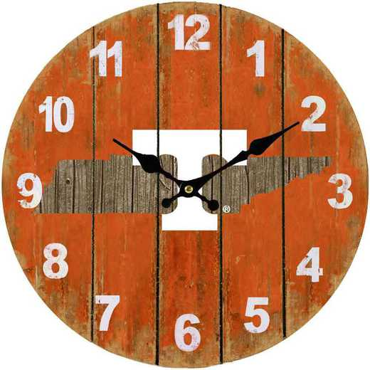 SMC026: TENNESSEE STATE MAP 13.5IN MDF CLOCK