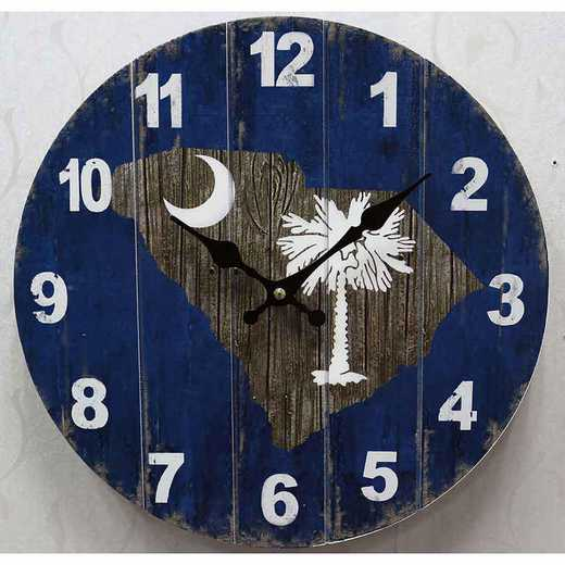 SMCPALM: PALMETTO 13.5IN MDF CLOCK