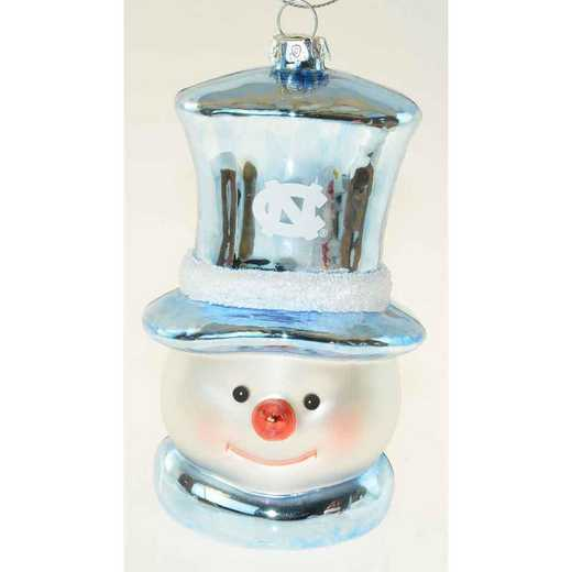 SMG019: UNC 6IN SNOWMAN GLASS ORNAMENT