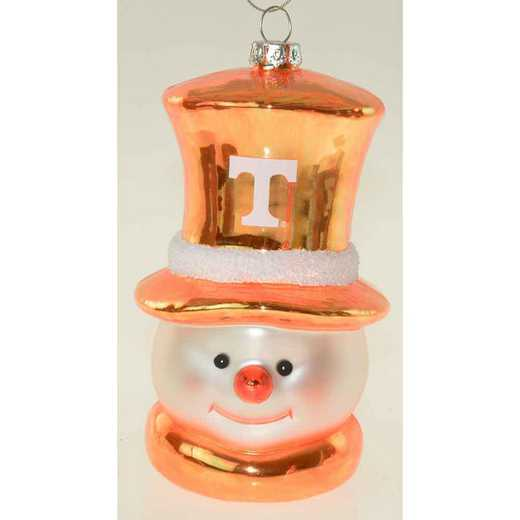 SMG026: TENNESSEE 6IN SNOWMAN GLASS ORNAMENT