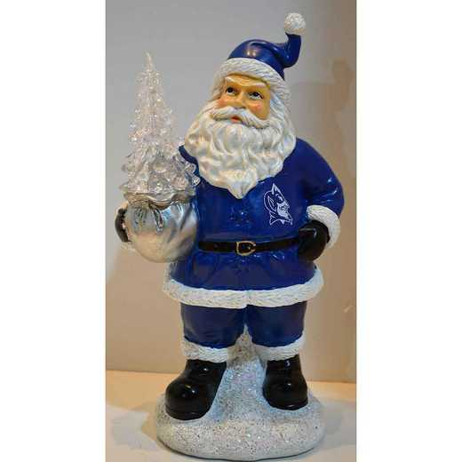 SWT006: DUKE BLUE DEVILS 9.5IN RESIN SANTA W/LED TREE FIGURE