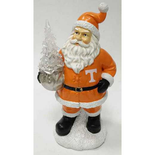 SWT026: TENNESSEE VOLUNTEERS 9.5IN RESIN SANTA W/  LED TREE FIGURE