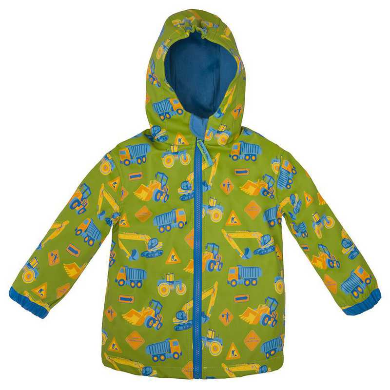 Stephen Joseph Construction All-Over Print Raincoat