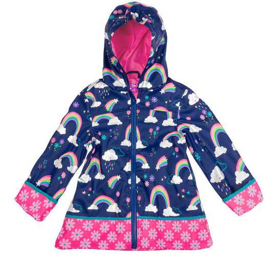 Stephen Joseph Rainbow All-Over Print Raincoat