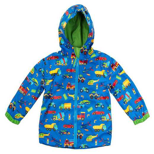 Stephen Joseph Transportation All-Over Print Raincoat