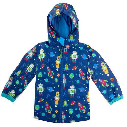 Stephen Joseph Robot All-Over Print Raincoat