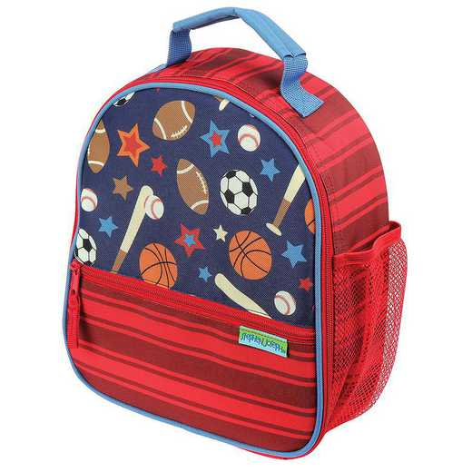 SJ112191: SJ  ALL OVER PRINT LUNCHBOX SPORTS