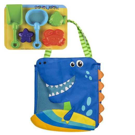 SJ100359: SJ  BEACH TOTES (w/sand toy play set)  DINO