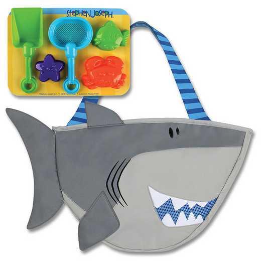 SJ100380: SJ  BEACH TOTES (w/sand toy play set)  SHARK