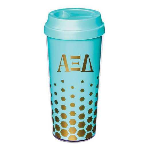 AA3002AZD: Alex Co COFFEE TUMBLER ALPHA XI DELTA (F16)