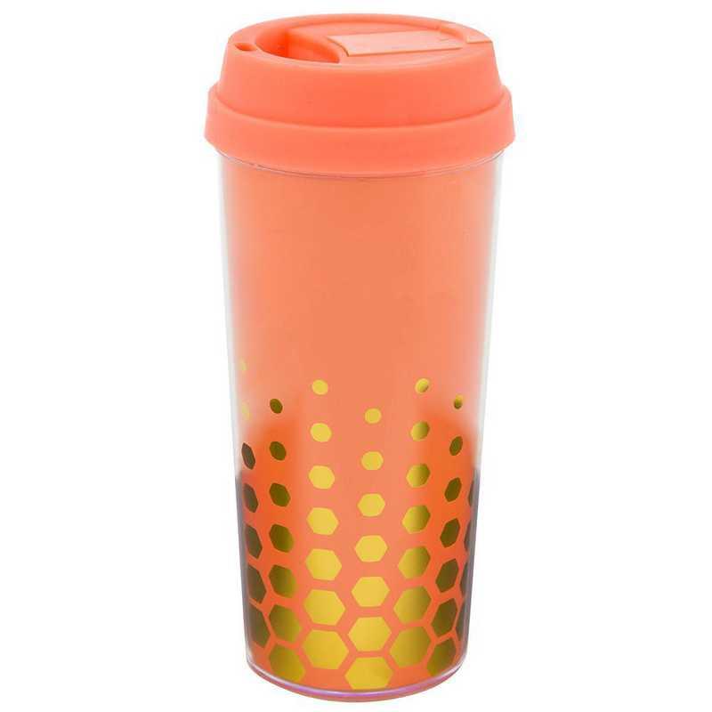 AA3002COR: Alex Co COFFEE TUMBLER  CORAL (S17)