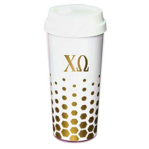 AA3002CO: Alex Co COFFEE TUMBLER  CHI OMEGA (F16)