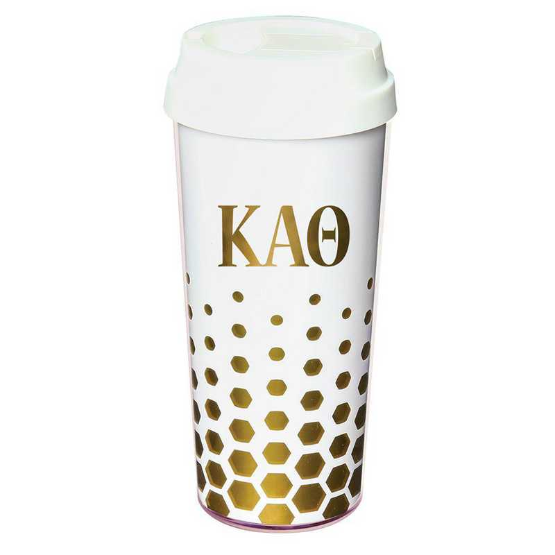 AA3002KAT: Alex Co COFFEE TUMBLER  KAPPA ALPHA THETA (F16)