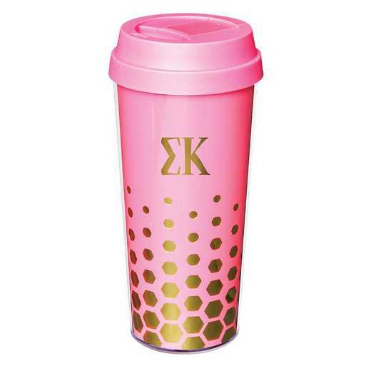 AA3002SK: Alex Co COFFEE TUMBLER  SIGMA KAPPA (F16)