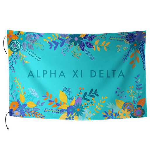 AA3018AZD: ALEX CO SUBLIMATED FLAG ALPHA XI DELTA