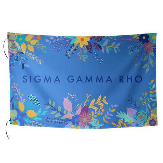 AA3018SGP: ALEX CO SUBLIMATED FLAG SIGMA GAMMA RHO