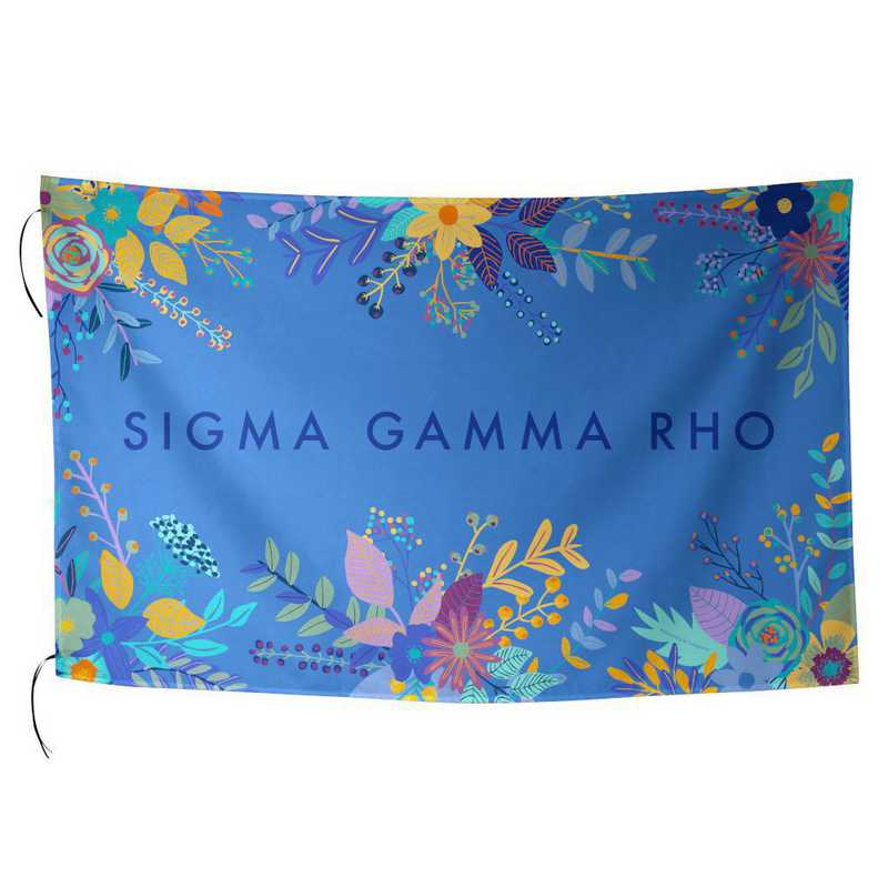 AA3018SGP: ALEX CO SUBLIMATED FLAG SIGMA GAMMA RHO