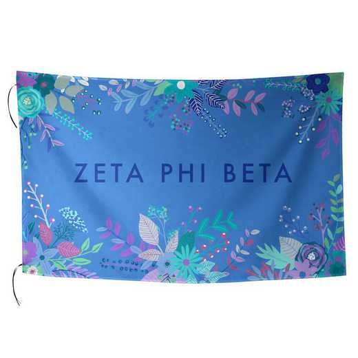 AA3018ZPB: ALEX CO SUBLIMATED FLAG ZETA PHI BETA