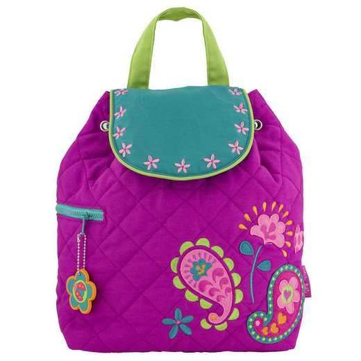 SJ100107: SJ  Quilted BackpackPAISLEY