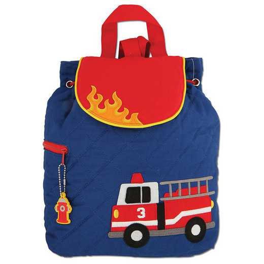 SJ100111A: SJ  Quilted Backpack FIRETRUCK