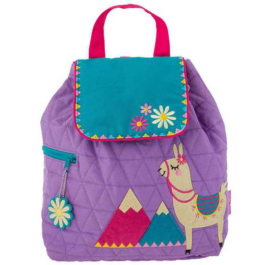SJ100116: SJ  Quilted Backpack LLAMA