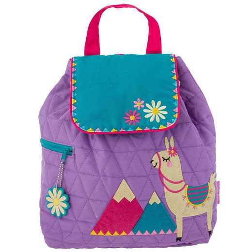 SJ100116: SJ  Quilted Backpack LLAMA