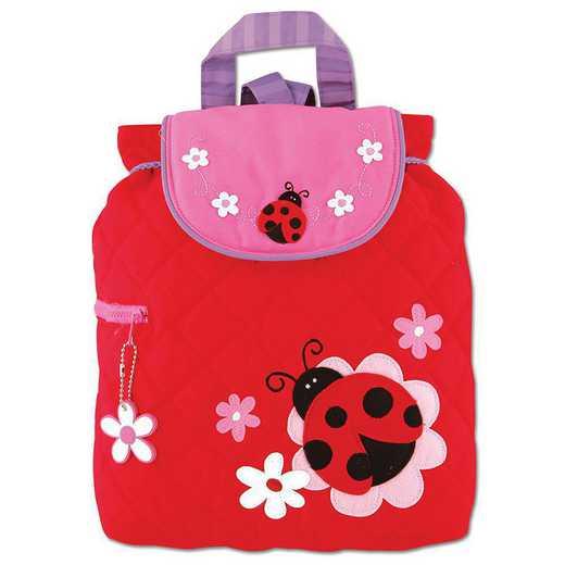 SJ100160A: SJ  Quilted Backpack LADYBUG