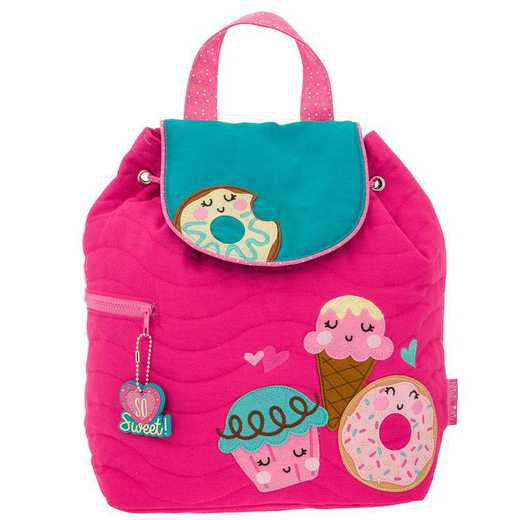 SJ100172B: SJ  Quilted Backpack DONUT