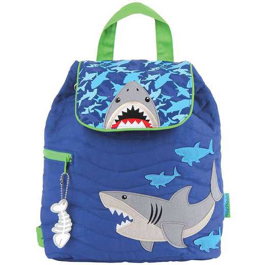 SJ100180A: SJ  Quilted Backpack SHARK