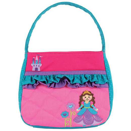 SJ850104A: SJ  QUILTED PURSE PRINCESS/CASTLE