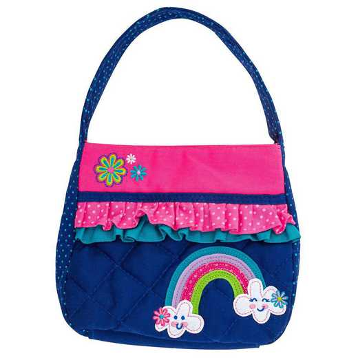 SJ850118: SJ  QUILTED PURSE RAINBOW