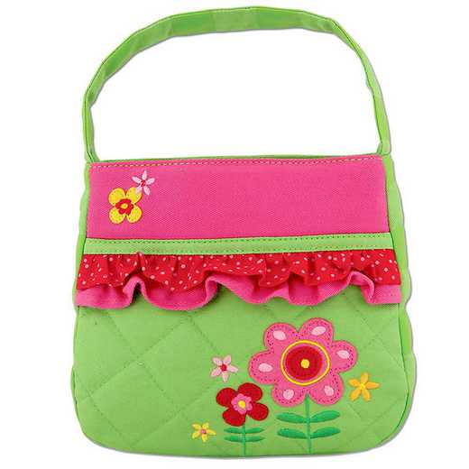 SJ850145A: SJ  QUILTED PURSE  FLOWER