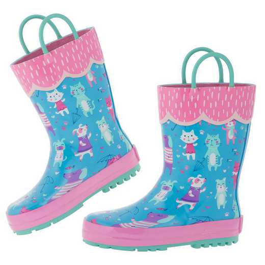 Stephen Joseph All Over Print Cat Rainboots