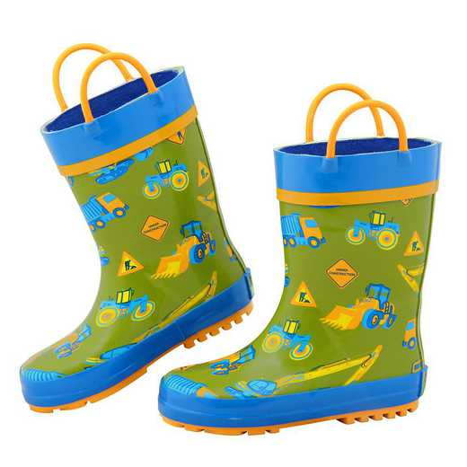 Stephen Joseph All Over Print Construction Rainboots
