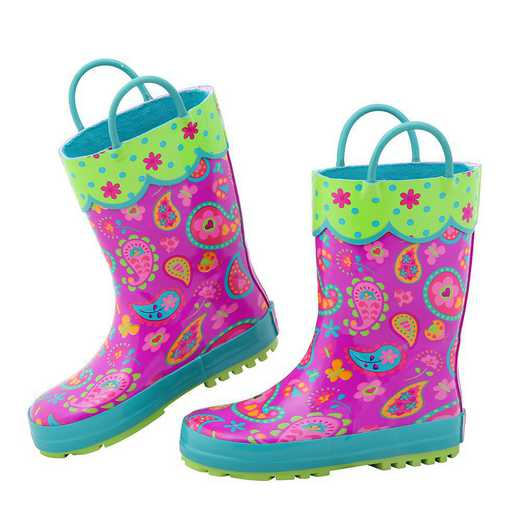 Stephen Joseph All Over Print Paisley Rainboots