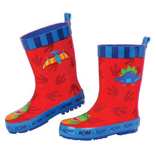 Stephen Joseph All Over Print Dino Rainboots