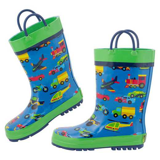 Stephen Joseph All Over Print Transportation Rainboots