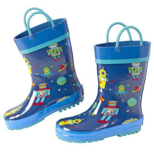 Stephen Joseph All Over Print Robot Rainboots