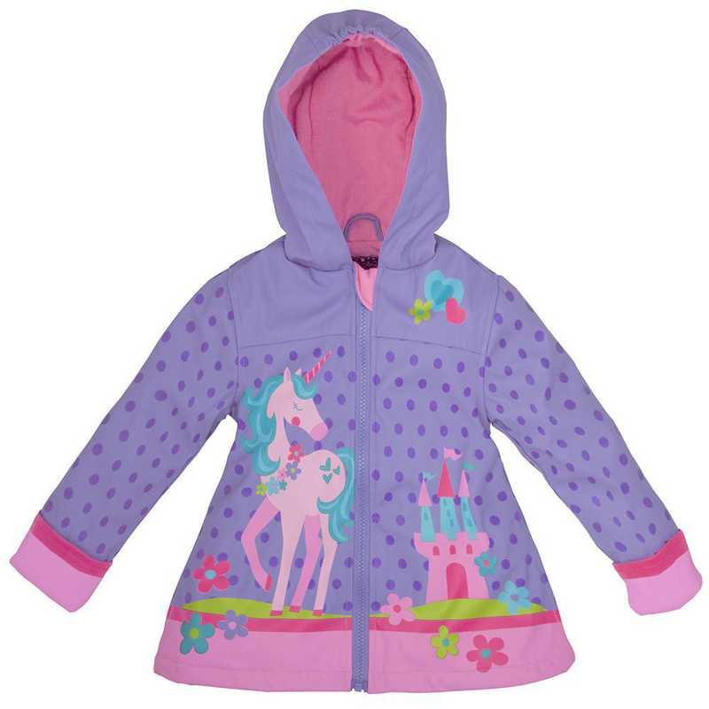 Stephen Joseph Unicorn All-Over Print Raincoat
